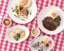 【WEEKDAY LUNCH】お魚orお肉 メイン料理選択可!+生牡蠣+スパークリングアップルジュース(平日限定)