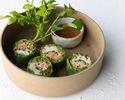 【TO GO】ささみと野菜の生春巻き Chicken & vegetables fresh spring rolls