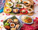 名物生麺パッタイと全19種少量多品の贅沢タイ料理コース ノンアルコール飲み放題2時間付き