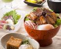 【ランチ】炙り豚バラ角煮丼定食