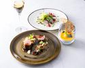 ランチ【前菜&お魚又はお肉料理&デザート】全3品+選べる2ドリンク