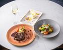 ディナー【前菜&お魚又はお肉料理&デザート】全3品+乾杯ドリンク付き