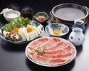 お昼のすき焼定食(特上ロース 120g)¥8250
