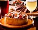 ◆2名様~5,000yen◆【ベルギークラフトビール5種スパークリング含む全50種2H飲み放題付き】開放的な店内/テラス席も!ブランド豚『TOKYO X』&選べる『シカゴピザ』コース