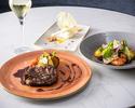 ディナー【前菜&お魚又はお肉料理&デザート】全3品+フリーフロー