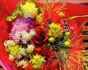 【10/4〜★HALLOWEEN】SNSで人気のフラワープレート×生薔薇の装飾テーブル×色が選べる花束付き!秋のアフタヌーンティー