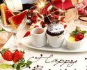 記念日を華やかに】Anniversary Plate&FreeDrink付~乾杯スパークリング&窯焼きマルゲリータでお祝いプラン