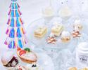 【乾杯グラスシャンパン+クリスマスギフト付き】 ホワイト・クリスマス・ ラグジュアリーアフタヌーンティー
