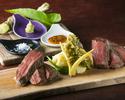 Roasted Shinshu beef & Bishou beef with domestic mustard