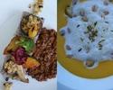 大豆ミートのキーマカレーと南瓜のポタージュ